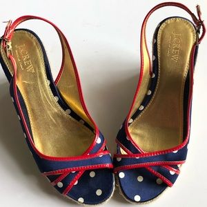 Red, White, and Blue J. Crew Espadrilles